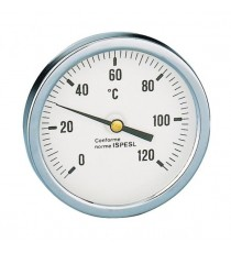 """688 TERMOMETRO ATTACCO POSTERIORE 1/2"""" 0-120°C  CALEFFI"""