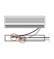 RACCORDO AD INVERIONE da 1/4 MF A 180° IN RAME OTTONE SPESSORE 1 MM