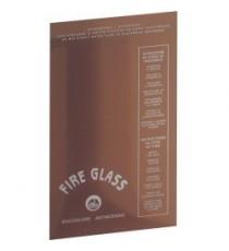 LASTRA ANTINCENDIO Fire Glass H. 495 x L.292 per CASSETTA ESTERNA DN 45