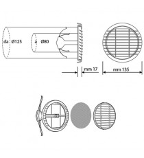 ABS GRIGLIA TONDA B/CA D. 135 (63-125) C/MOLLA NICOLL