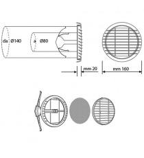 ABS GRIGLIA TONDA BIANCACA D. 160 (80-140) C/MOLLA NICOLL