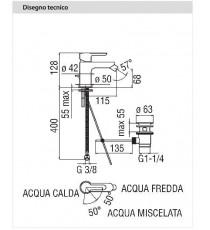 NOBILI - MISCELATORE BIDET SERIE ABC CROMO CON RISPARMIO ENERGETICO ABE87119/1CR