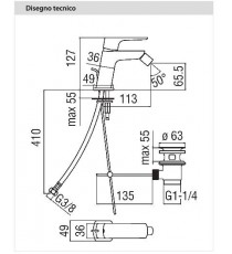 NOBILI - MISCELATORE BIDET SERIE ACQUAVIVA CROMO VV10119/1CR
