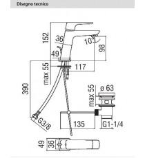 NOBILI - MISCELATORE LAVABO SERIE ACQUAVIVA CROMO VV103118/1CR