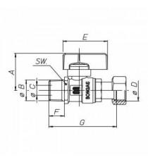 BON GAS VALV. SFERA GAS 1/2