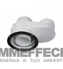 SDOPPIATORE  80/125 A   80/80 mm per caldaia a condensazione JUNKERS BOSCH cod. AZB 922