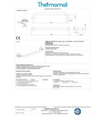 MANIGLIONE LINEARE PER DISABILI mm 600 THERMOMAT