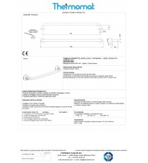 MANIGLIONE LINEARE PER DISABILI mm 900 THERMOMAT
