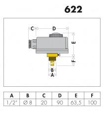 622 TERMOSTATO A IMMERSIONE REGOLABILE 0÷90°C CALEFFI