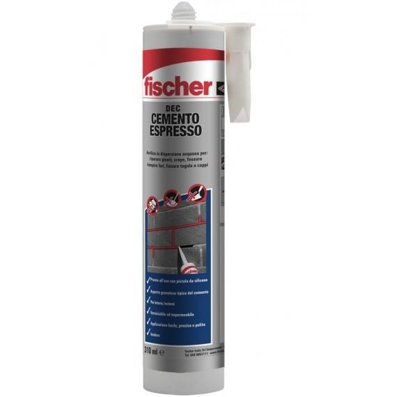 DEC - Cemento Espresso 310 ml FISCHER Per riparare giunti, crepe e fessure, riempire fori, fissare tegole e coppi.