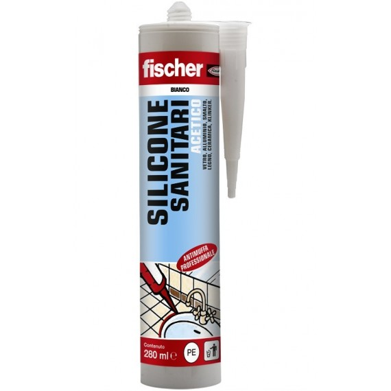 SILICONE MULTISUSO ACETICO TRASPARENTE  280 ml FISCHER