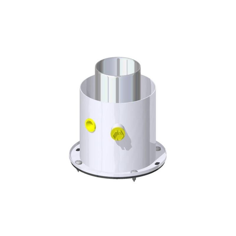 Kit partenza mf verticale c flangia e ispezione 60 100 for Raccordo in acciaio verticale
