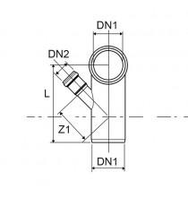 HTSB CURVA WC ALTA DN 110 C/ATT. 50 DX AD INNESTO a 87° SCARICO SANITARIO Nicoll Redi