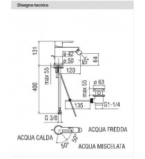 NOBILI - MISCELATORE BIDET NEW ROAD CROMO CON RISPARMIO ENERGETICO RDE0119/1CR
