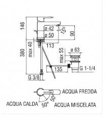 NOBILI - MISCELATORE LAVABO NEW ROAD CROMO CON RISPARMIO ENERGETICO RDE0118/1CR