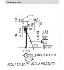 NOBILI - MISCELATORE LAVABO SERIE ABC CROMO  CON RISPARMIO ENERGETICO