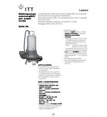ELETTROPOMPA LOWARA SOMMERGIBILE X ACQUE SPORCHE DL125 HP 2 Trifase - Autoclave