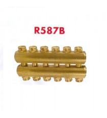 """R587B COLLETTORE COMPLANARE DA 3/4"""" F. 2+2 DERIV. D. 16 GIACOMINI"""