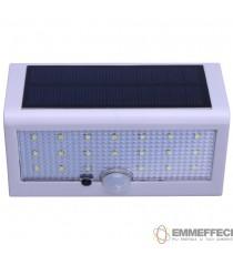 LAMPADA SOLARE CON SENSORE  7W IP65 da esterno Durata 5 ore - 3FUNZIONI - OHLED