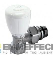 R421TG Valvola micrometrica termostatizzabile, a squadra, con attacco tubo ferro GIACOMINI