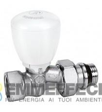 R422TG Valvola micrometrica termostatizzabile, diritta, con attacco tubo ferro