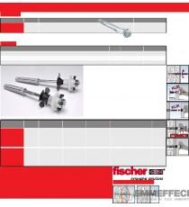 WST 120 KLIK Kit di montaggio completo per l'installazione di lavabi a parete FISCHER