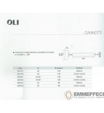 CANOTTO CON ROSONE E MORSETTO BIANCO 602101 OLI