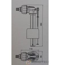 Galleggiante OLI - COMPACT Silenziato attacco laterale 3/8