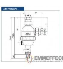 DEFANGATORE IN TECNOPOLIMERO COMPOSITO DF COMPACT CON MAGNETE DA 3/4