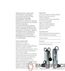 ELETTROPOMPA SOMMERGIBILE LOWARA SCUBA SC207 C HP 1,1 MONOFASE DA 5