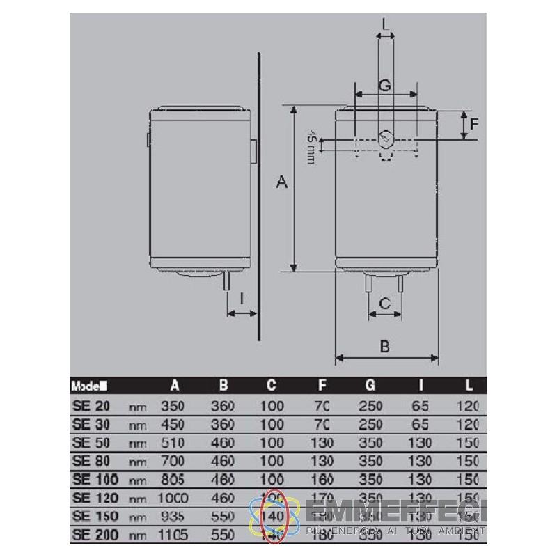 Scaldabagno boiler scaldino scaldacqua elettrico verticale 80 lt garanzia 5 anni bandini braun - Valvola di sicurezza scaldabagno elettrico ...