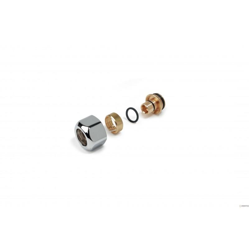 T179m adattatore per tubi in plastica o multistrato base 16 diametro tubo 16 mm cromo lucido - Diametro tubo multistrato per bagno ...