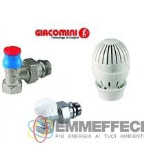 R470A Kit riqualificazione energetica radiatore 3/8, con valvola detentore e testa termostatica