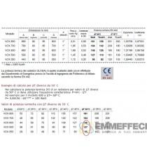 RADIATORE IN ALLUMINIO GLOBAL MODELLO VOX INTERASSE 500 mm BATTERIA DA  10 / 110 Kcal/h ad elemento