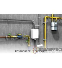 2 pezzi COLLARE PESANTE IN ACCIAIO CON VITE E TASSELLI  FISCHER CPS 3/8