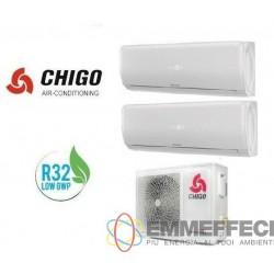 DUAL SPLIT 9000 + 12000 BTU INVERTER R32 A++/A+  CS-61V3G-1B170AE2-W3 CHIGO