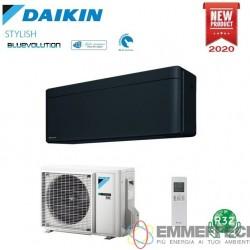 CONDIZIONATORE DAIKIN STYLISH BLACK 12000 BTU R32 INVERTER A+++ CON WI-FI FTXA35BB/RXA35A