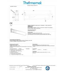Barra di sostegno ribaltabile con dispositivo di bloccaggio in posizione verticale e portarotolo - mm 830